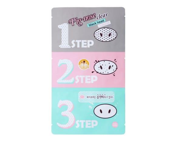 Pooride kolmeastmeline puhastusvahend Holika Holika Pig Nose Clear Black Head 3-Step
